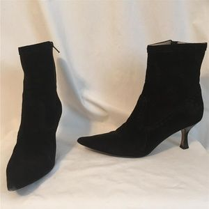 MICHAEL KORS Black Suede High Heel Ankle Boots 10
